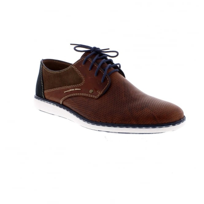 Rieker 17824-25 Men's Lace Up Brown Combination Shoes