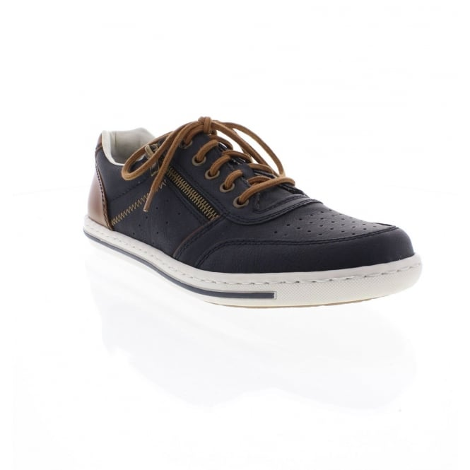 Rieker 19005-14 Mens' blue combination casual shoes