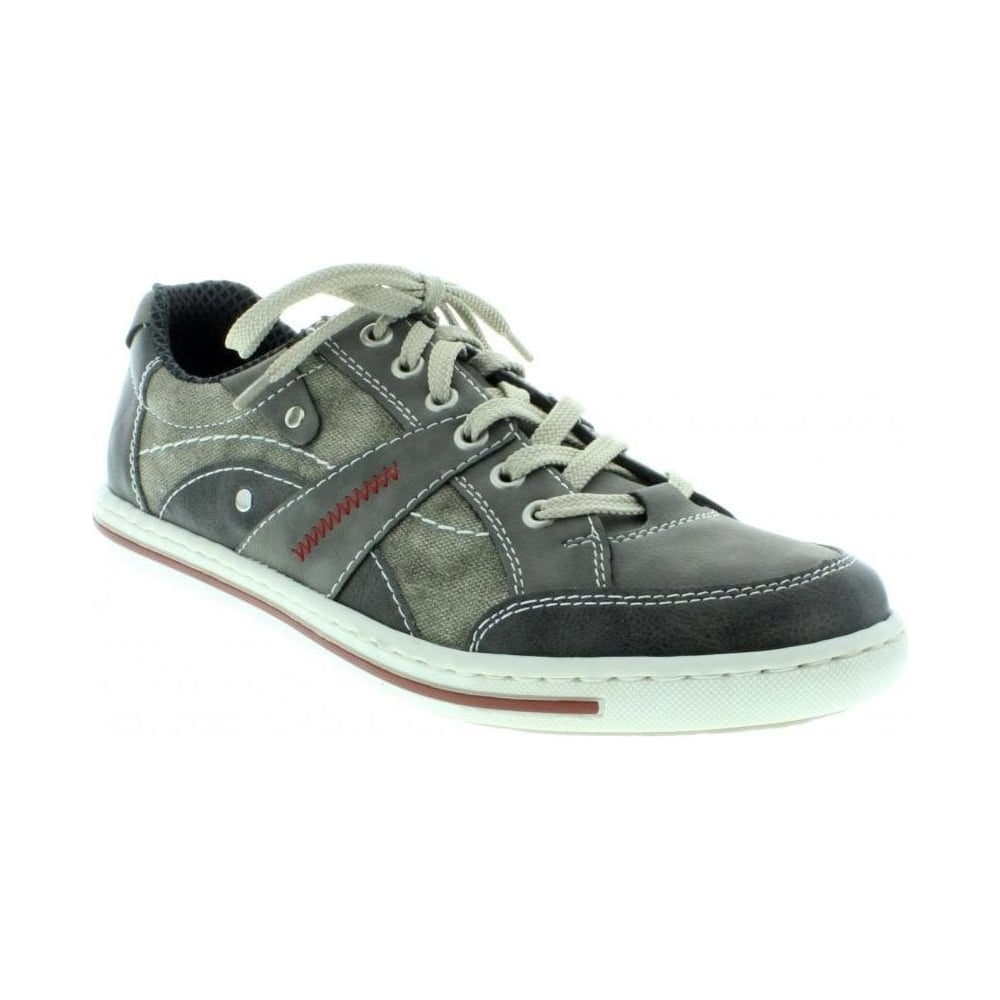 19013 42 Mens Grey Lace Up shoes