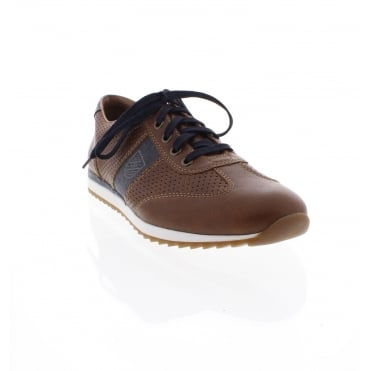 Rieker 19325-25 Mens' brown and blue combination casual shoes
