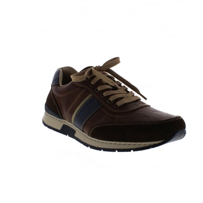 Rieker 19411-25 Mens Brown Combination Casual Shoe