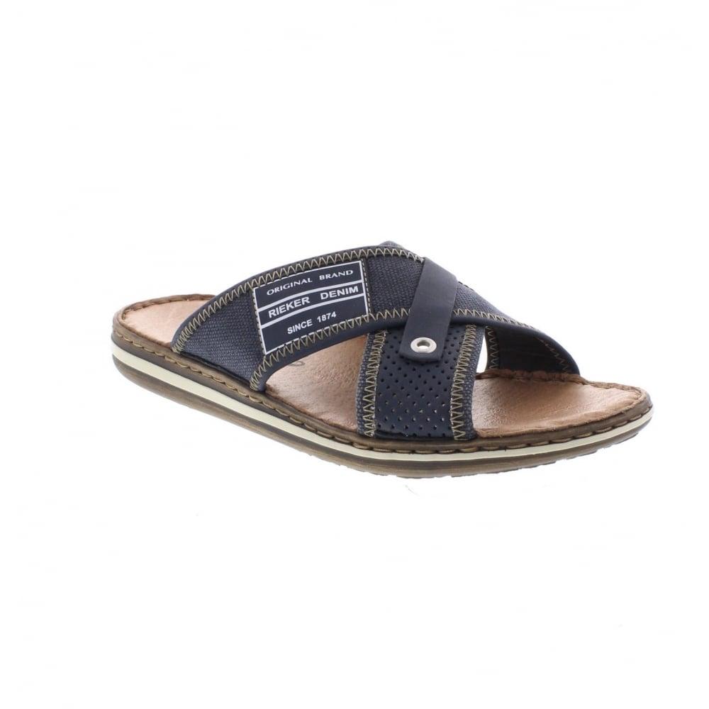 Rieker 21064-14 Men's Blue slip on sandals