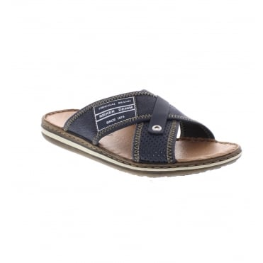Rieker 21064-14 Men's Blue slip on sandals