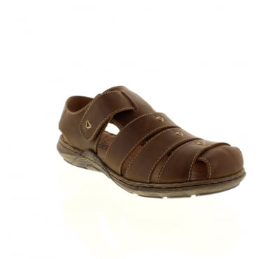 Rieker 22071-26 Mens Brown Velcro sandals