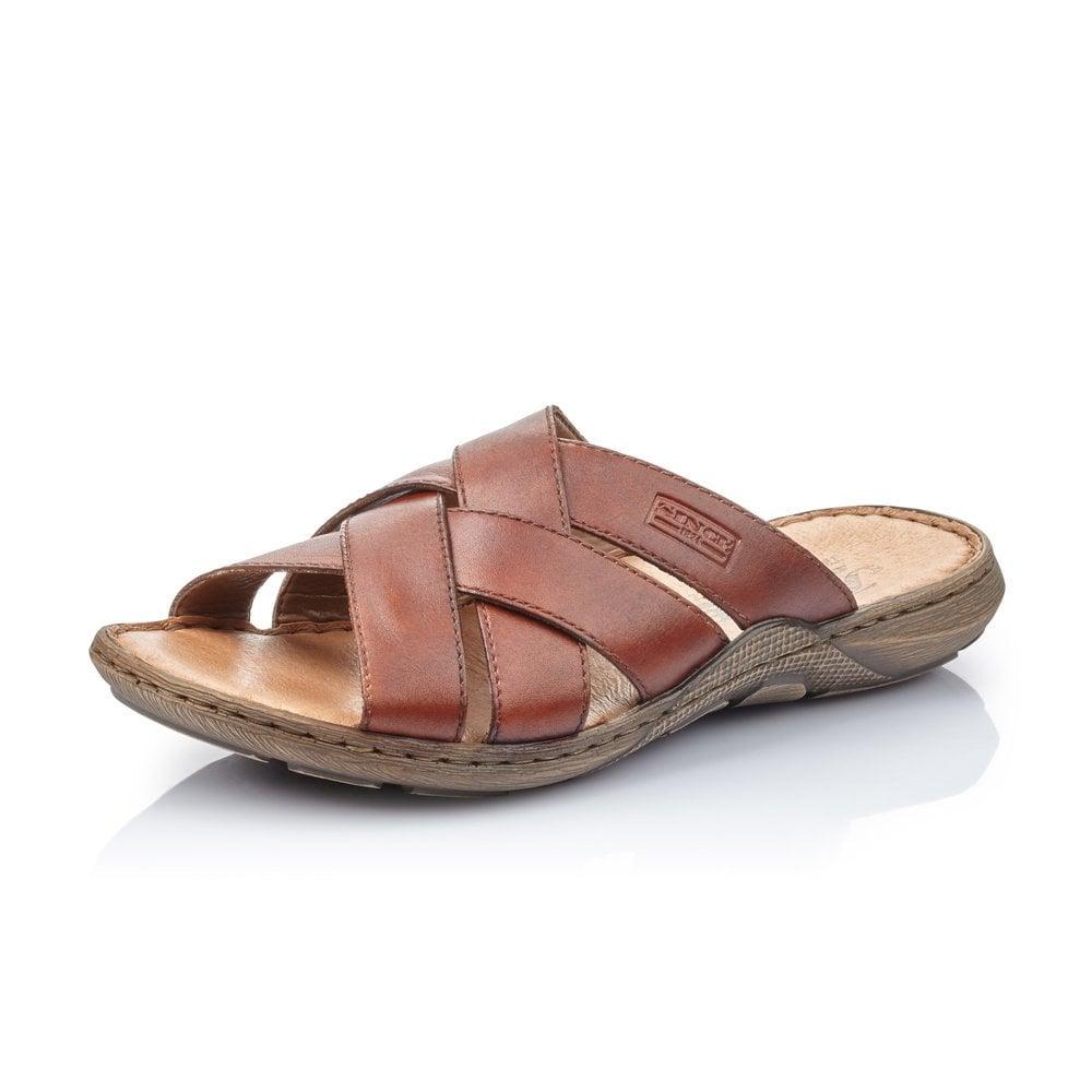 Rieker 22098-24 Men's Brown Slip On