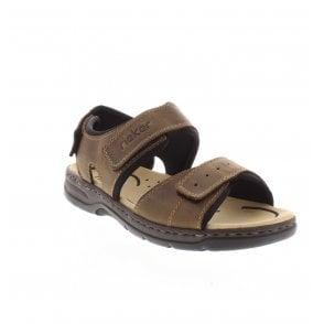 22099 25 Men's Brown Combination Sandals