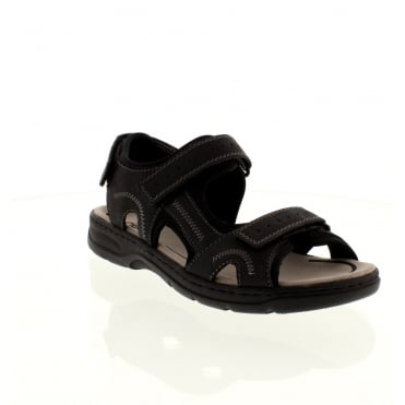 Rieker 26280-00 Mens Black Velcro sandals