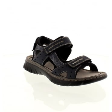 Rieker 26757-15 Mens Blue Velcro sandals
