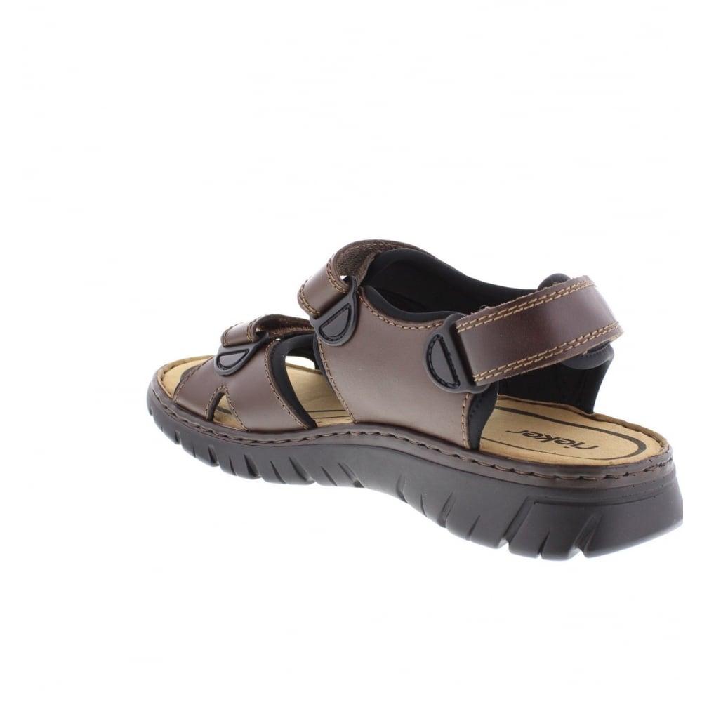 26757 27 Mens Brown Combination hook and loop sandals