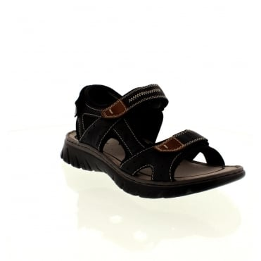 Rieker 26759-14 Mens Blue Velcro sandals