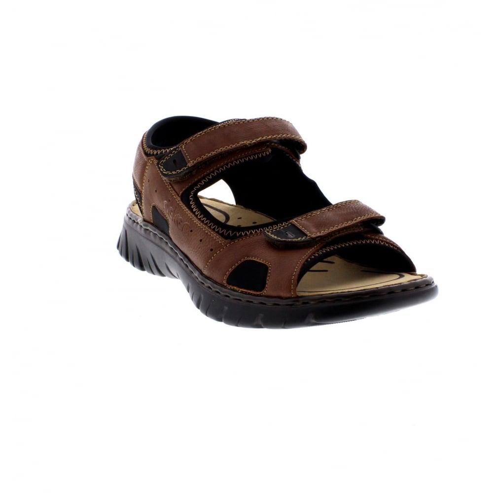 a68b8519d055 Rieker 26760-25 men s brown combination sandals - Rieker Mens from Rieker UK