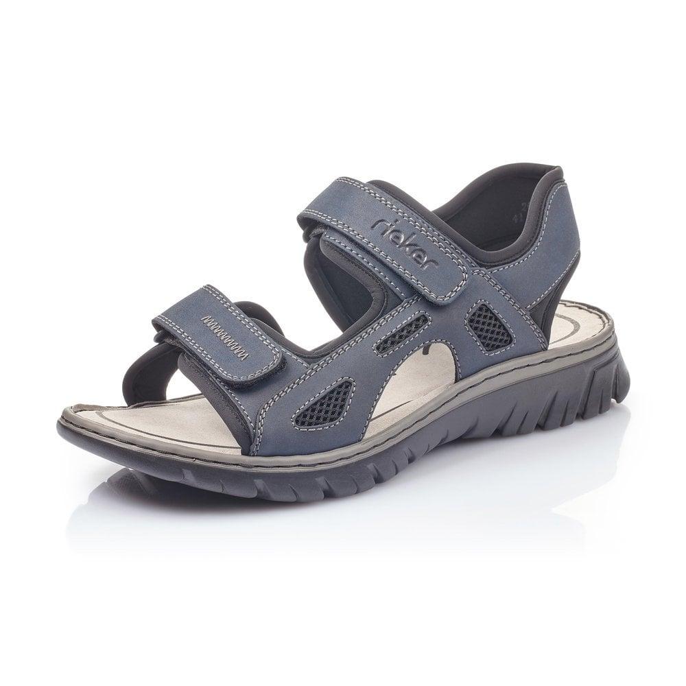 Rieker 26761-14 Men's Blue Sandals with
