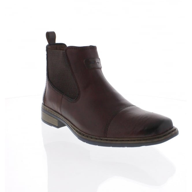 Rieker 30863-25 Mens brown combination boot