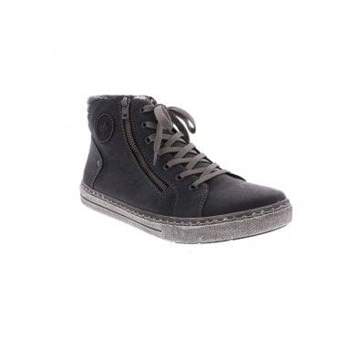 57b2f696c2086 Rieker 30921-45 Men s Grey Zipper Boots