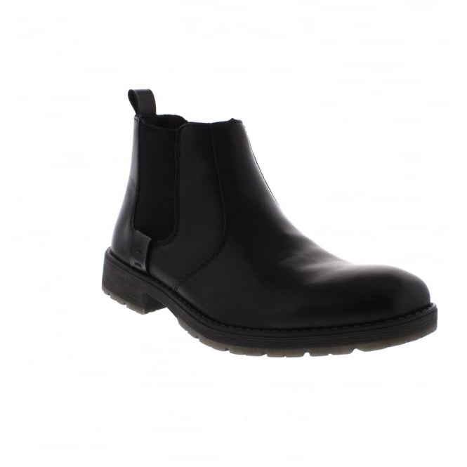 Rieker 33353-00 Mens Black Chelsea Boot