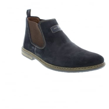 Rieker 33463-14 Mens Blue Slip on boots