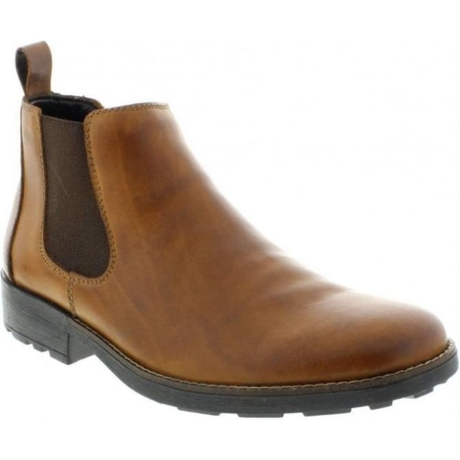 Rieker 36082-25 Mens Brown Slip on boots
