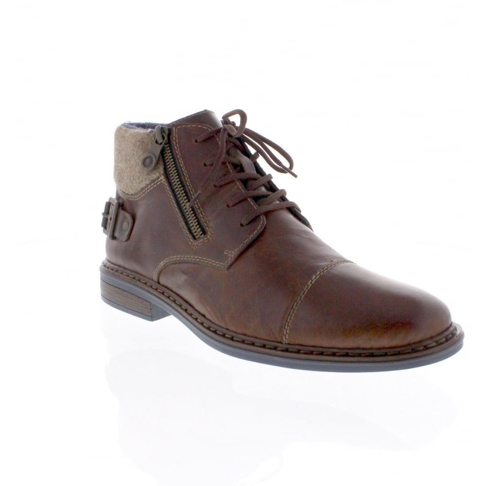 rieker 37632 25 mens brown combination boot rieker mens
