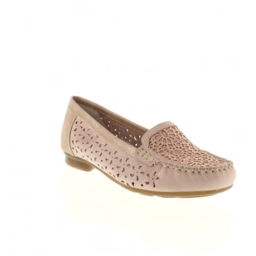 Rieker 40087-31 Ladies Pink Combination Slip on shoes