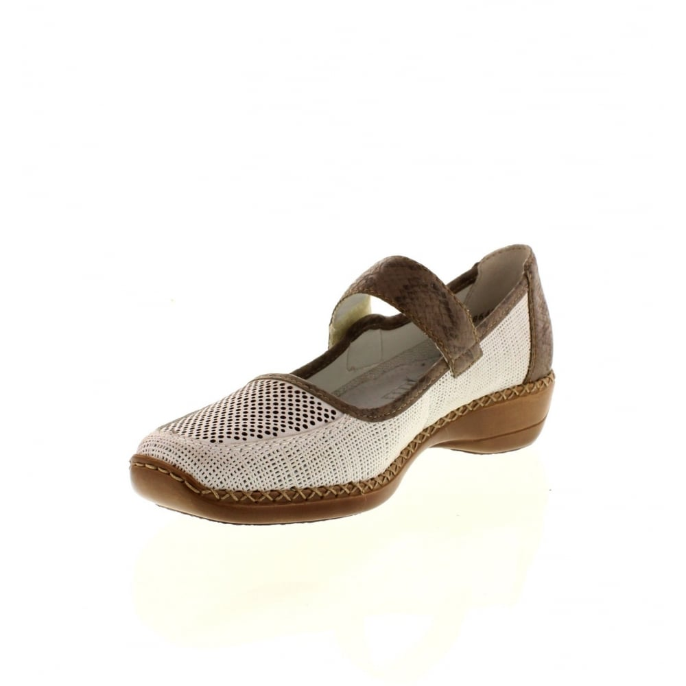 RIEKER Rieker Womens Shoe 41306-80 White 39 1wU0eZnba