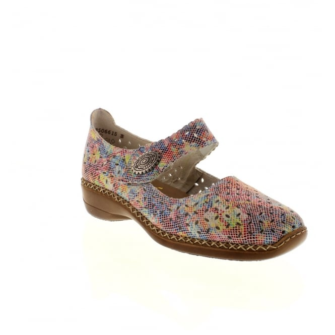 Rieker 41368-91 Ladies Multi-coloured/Metallic Velcro shoes