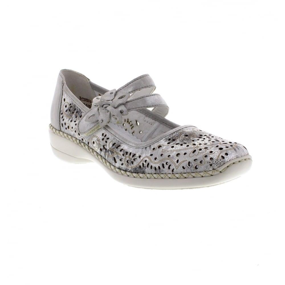 Rieker Shoes Silver Heel