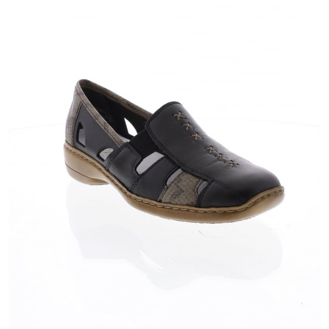 Rieker 41385-01 Ladies slip on shoes