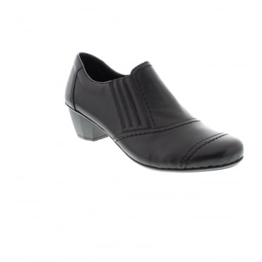 Rieker 41700-00 Ladies Black Slip on shoes