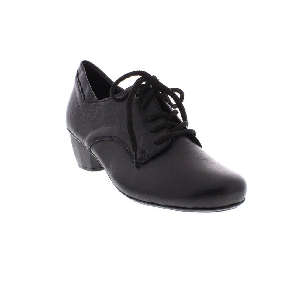 14b8b4a9f9 Rieker 41722-01 Ladies black Lace Up shoes - Rieker Ladies from Rieker UK