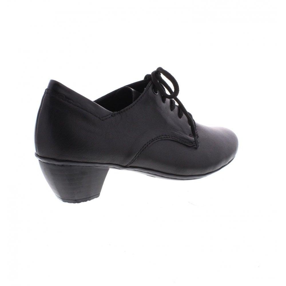41722 01 Ladies black Lace Up shoes