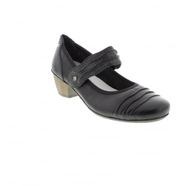 Rieker 41733-01 Ladies Black Velcro shoes