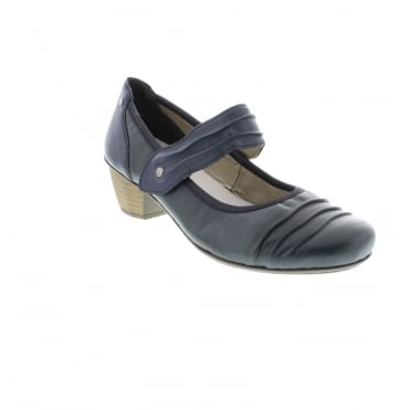 Rieker 41733-14 Ladies Blue Velcro shoes