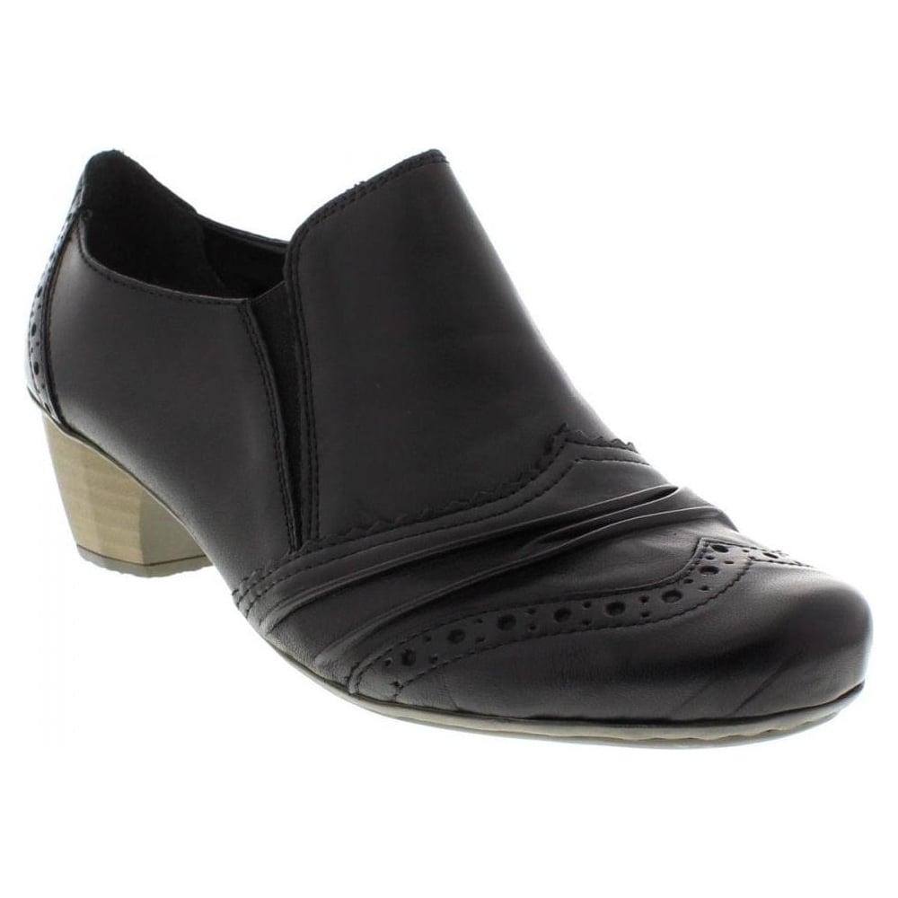 Rieker Ladies Black Slip On Shoe