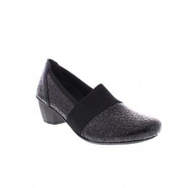 4d5951f0041b Rieker 41786-45 Ladies Smokey Black Grey shoes Last Chance