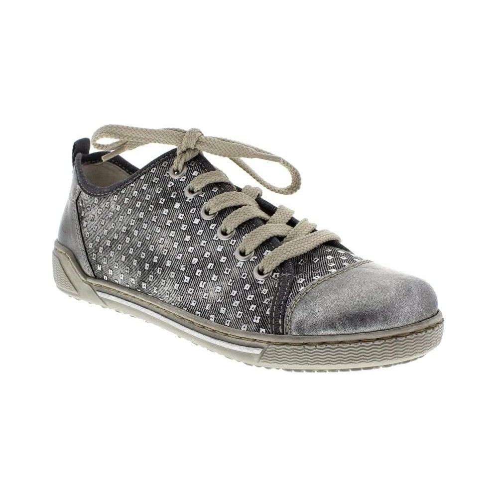 22685f1016 Rieker 42422-42 Ladies Grey Lace Up - Rieker Ladies from Rieker UK