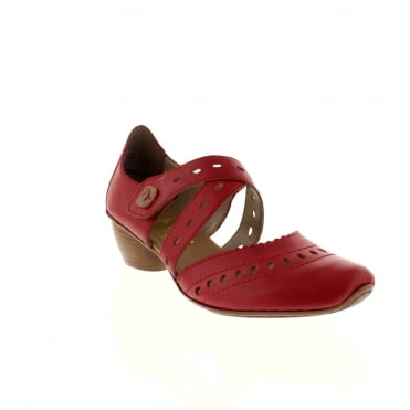 Rieker 43703-33 Ladies Red Velcro shoes