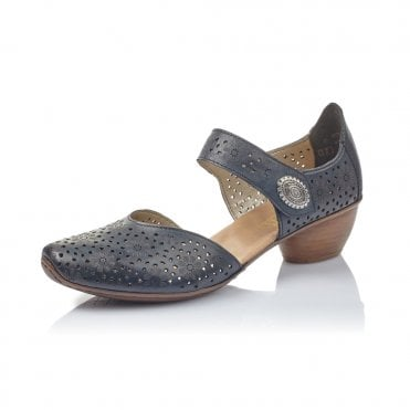 Rieker 43711-15 Ladies Navy Shoes with