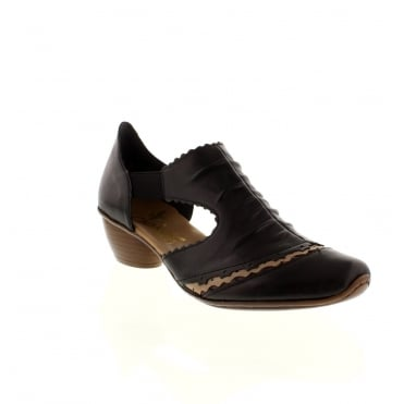 Rieker 43783-00 Ladies Black Slip on shoes