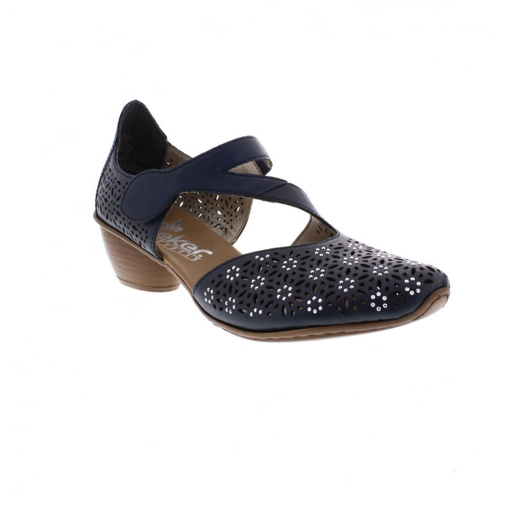 Rieker 43786 14 Ladies Blue Shoes Rieker Ladies From