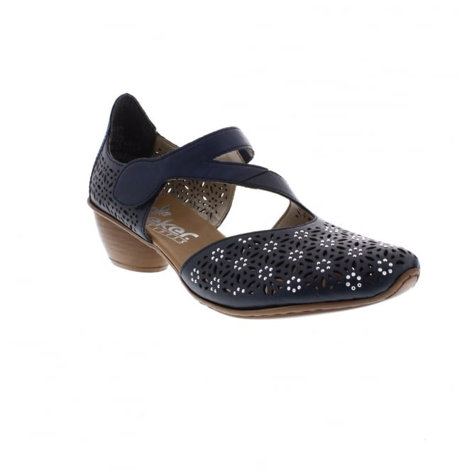 Rieker 43786-14 Ladies' Blue Shoes