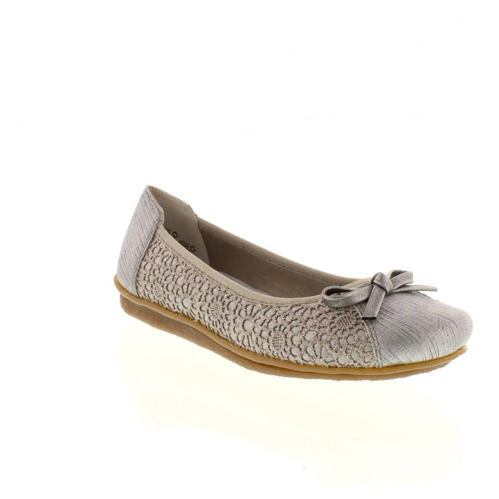 b5deb8b2fde Rieker 43952-90 Ladies Multi-coloured Metallic Slip on shoes - Rieker Ladies  from Rieker UK