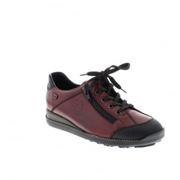 Rieker 44221-00 Ladies Black Lace Up shoes