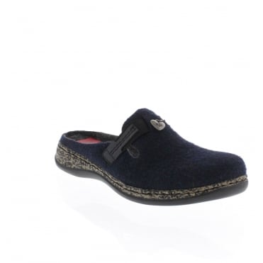 Rieker 46300-15 Womens Blue Slipper