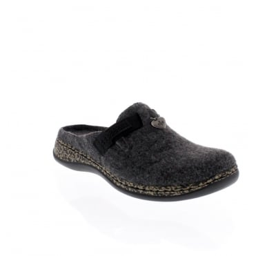 Rieker 46300-46 Womens Grey Slipper