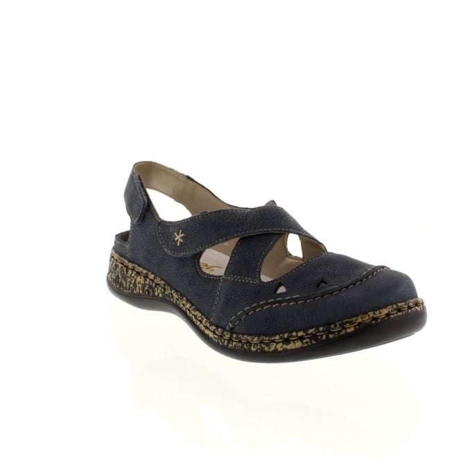 Rieker 46379-14 Ladies Blue Velcro shoes