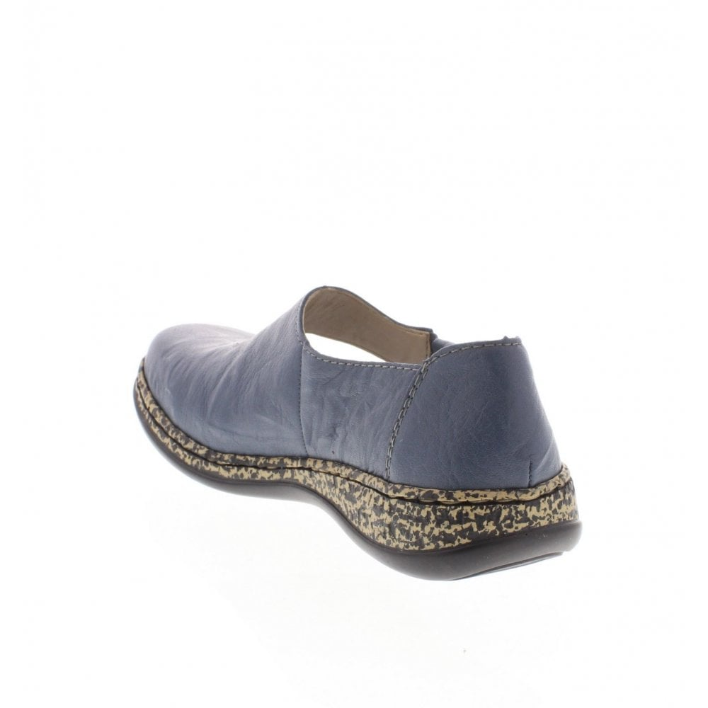 Rieker 463H3-12 Ladies Blue Leather Summer Shoes