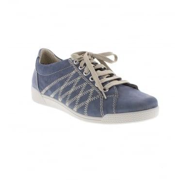 46501-12 Ladies' Blue Lace up shoes