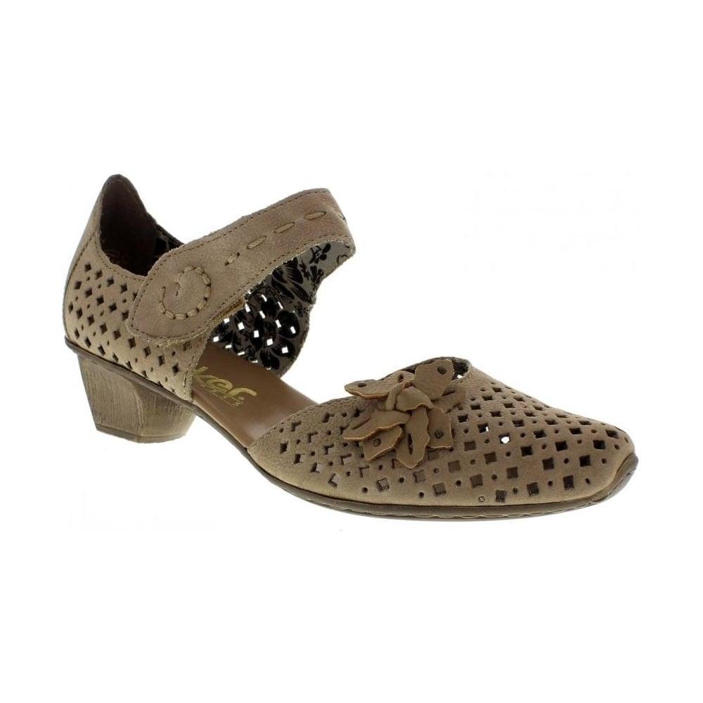 rieker 49759 64 ladies beige combination shoes rieker. Black Bedroom Furniture Sets. Home Design Ideas