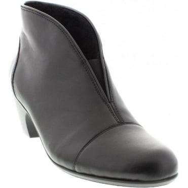 Rieker 50553-00 Ladies Black Slip on ankleboots