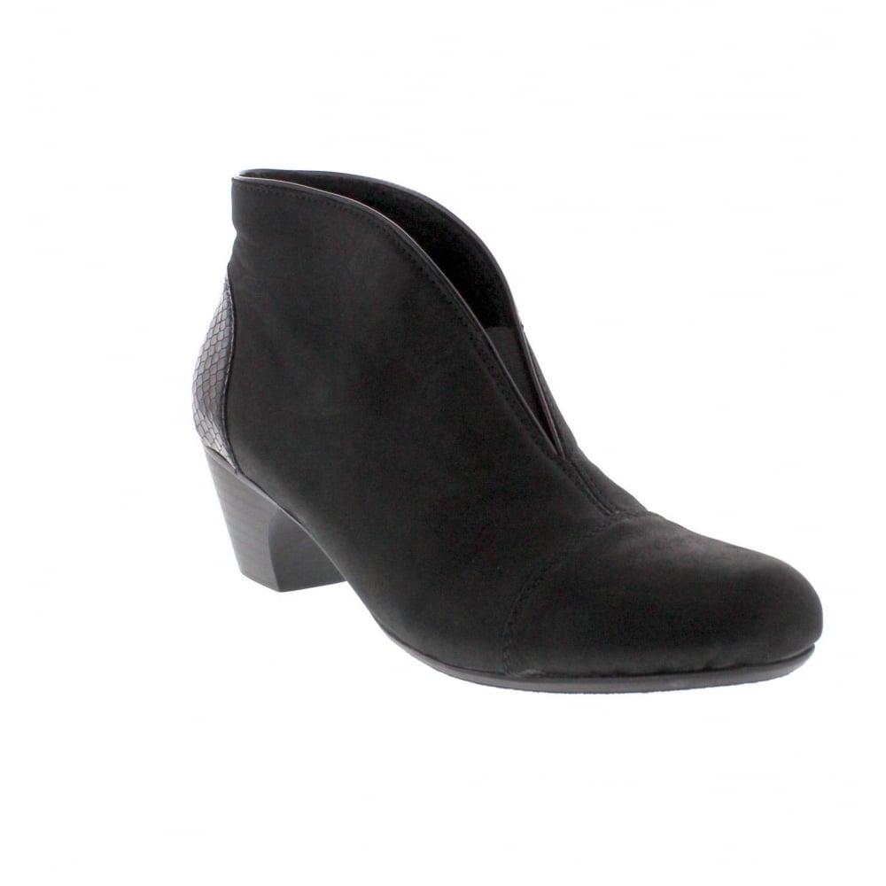 eb21e03ae3830 Rieker 50553-01 Womens Black Ankle Boot - Rieker Ladies from Rieker UK